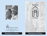 Financing Your Future - Spelman College: Home
