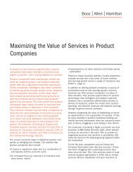 Maximizing the Value of Services in Product Companies
