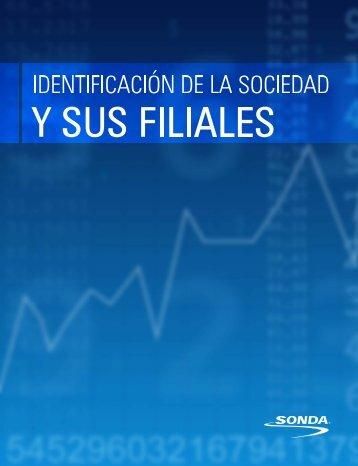 Identificación de la Sociedad y sus Filiales - Sonda