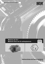 Motores de CA / Motores freno de CA antiexplosivos - SEW Eurodrive