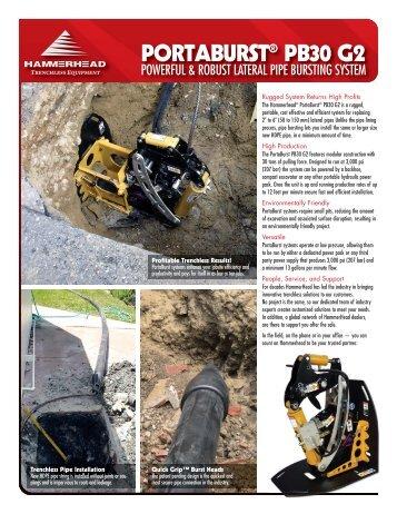 PortaBurst PB30 G2 Brochure - HammerHead
