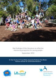A Literature Review - Australian Youth Mentoring Network