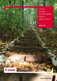 Canon Europe Sustainability Report 2009-2010 [PDF, 3 MB]