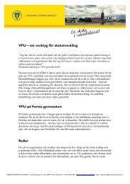 VFU -ett verktyg för skolutveckling (pdf) - Pedagog Stockholm