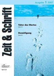 Heft 1/2007 - Zeit & Schrift