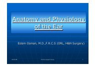 Anatomy and Physiology of the Ear Anatomy and Physiology of the Ear