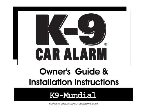 K9 Mundial Owner's & Installation - car alarmYumpu