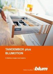BLUM Tandembox plus katalógus - De-Span Kft.