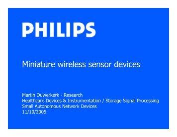 Miniature Wireless Sensor Devices - Future Technology Center