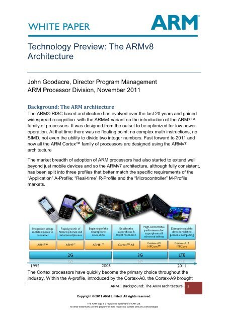 Technology Preview: The Armv8 Architecture