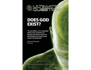 Ultimate Questions: Does God Exist? - Brianauten.com