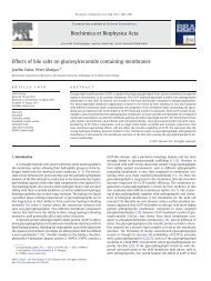 Effects of bile salts on glucosylceramide containing ... - Åbo Akademi