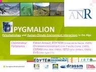 Pygmalion - Edytem - Université de Savoie