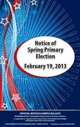 official notice & sample ballots - Town of Grand Chute