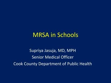 MRSA in Schools - Cook County Department of Public Health