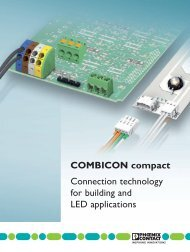 COMBICON compact Connection technology for ... - Phoenix Contact