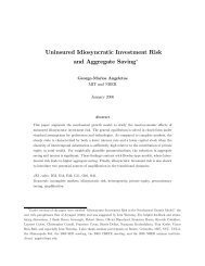 Uninsured Idiosyncratic Investment Risk and Aggregate Saving∗