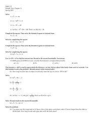 Math 115 Sample Test Chapter 11 Spring 2005 ... - San Juan College