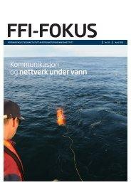 Kommunikasjon og nettverk under vann - Forsvarets forskningsinstitutt