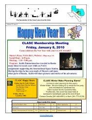 CLASC Membership Meeting Friday, January 8, 2010