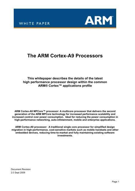 The ARM Cortex-A9 Processors