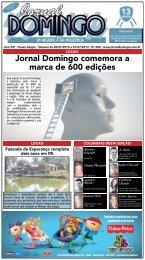 Edição 600 - Semana de 20/07/2013 a 27/07/2013 - Jornal Domingo