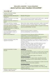 Informatīvs materiāls 1. kursa studentiem - Liepājas Universitāte