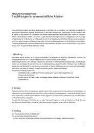 Empfehlungen für wissenschaftliche Arbeiten (pdf) - Kunstgeschichte