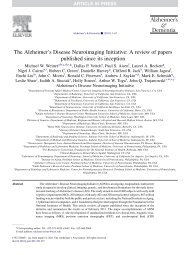 The Alzheimer's Disease Neuroimaging Initiative: A review of papers ...