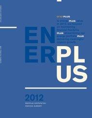 2012 financial summary - Enerplus