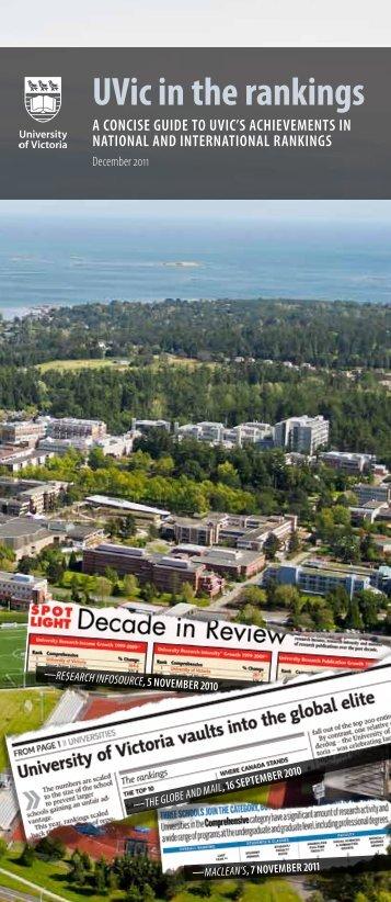 Rankings 2011 - University of Victoria