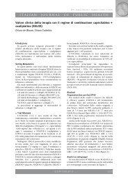 ITALIAN JOURNAL OF PUBLIC HEALTH Valore clinico della ... - Ijph.it