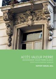 Rapport annuel - Accès Valeur Pierre - 2011 - Primaliance