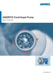ANDRITZ Centrifugal Pump ISO Series