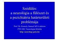 Komoly S Szédülés a neurológia, gégészet és pszichiátriai ...