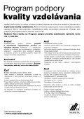 Program podpory kvality vzdelávania - Page 2