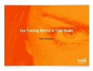 Eye Tracking Metrics in Tobii Studio