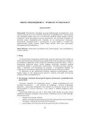 Profil przedsiębiorcy – wybrane wyniki badań - PTZP