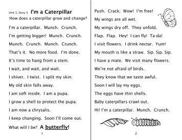 Spelling Worksheets 3-5 I'm a Caterpillar - Sound City Reading
