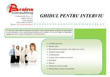 GHIDUL PENTRU INTERVIU - Brains Consulting