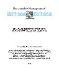 delaware residents' opinions on climate change and sea level rise