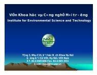 ViÖn Khoa häc vµ C«ng nghÖ M«i trêng - Giáo dục bảo vệ môi trường
