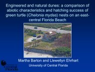 a comparison of abiotic characteristics and hatching success ... - fsbpa