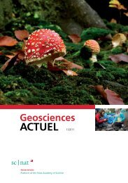 Geoscience ACTUEL 1/2011 - Platform Geosciences - SCNAT