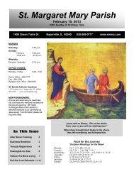 February 10, 2013 - Saint Margaret Mary Parish