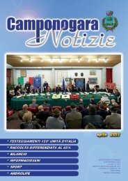 vo notizie - Comune di Camponogara