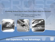 Running Avaya Voice over Cisco Data: Keys to Success