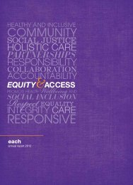 Annual Report 2011-2012 - EACH