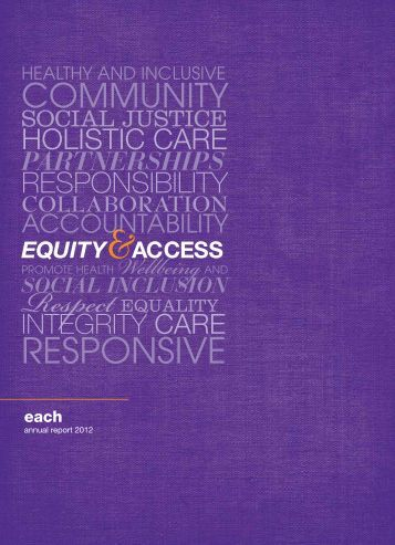 Annual Report 2011-2012 - EACH