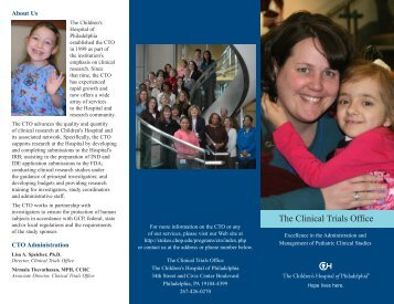 The Clinical Trials Office - The Children's Hospital of Philadelphia ...